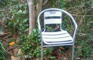 <寄贈情報>アルミ製椅子   1脚