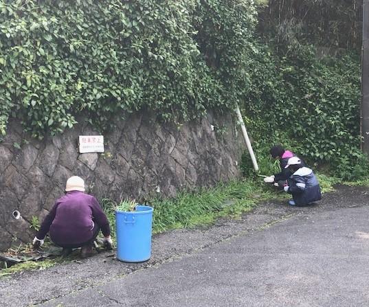 <行事>町内環境美化(清掃)を実施しました。4-05